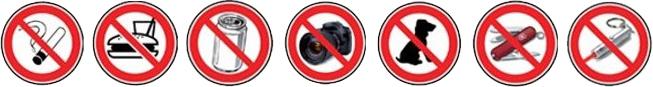 Panneaux interdictions